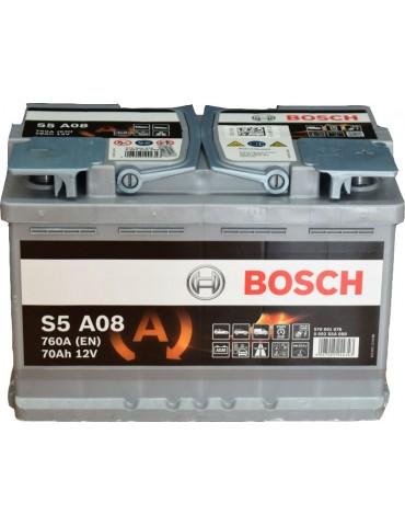 70AH 760CCA AGM- START STOP BOSCH (S5A080)